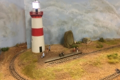 Mac Strong's Beacon Point layout with lighthouse, sound mirror and pill box.