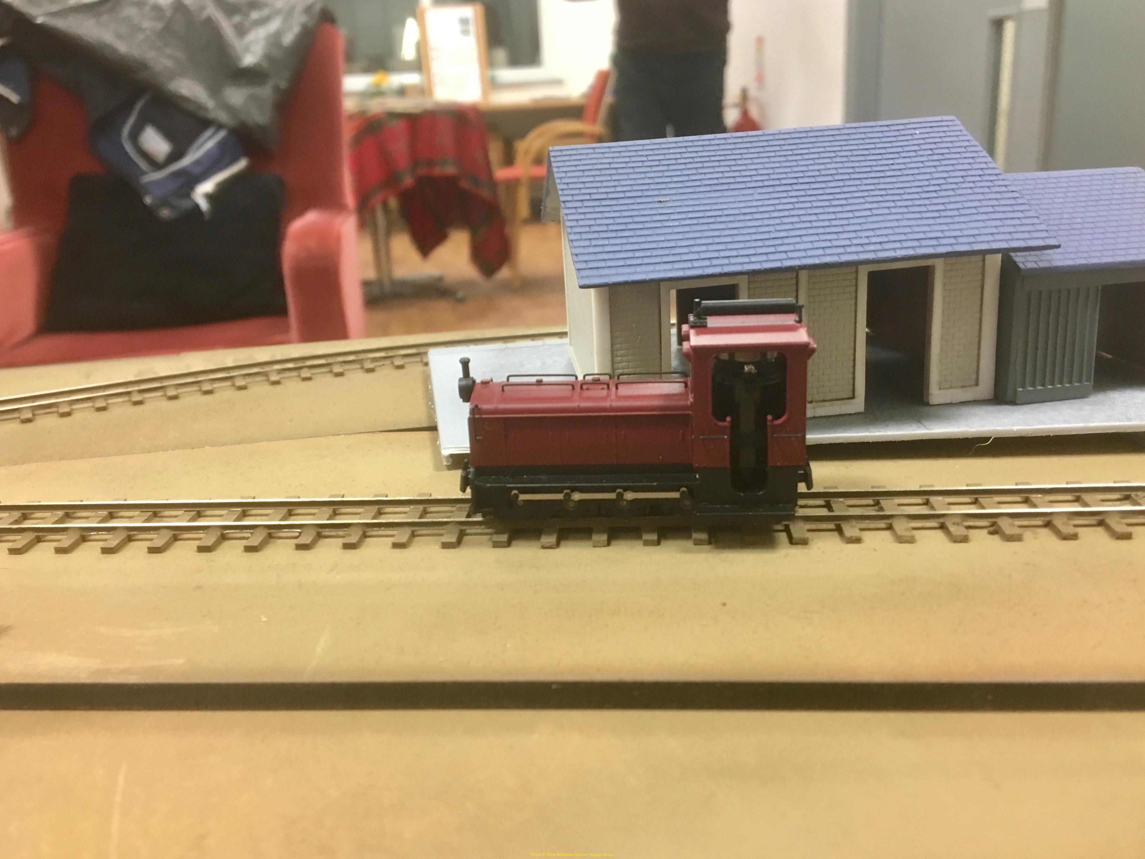 Minitrains Schneider locomotive on Hugh Freeman's micro-layout