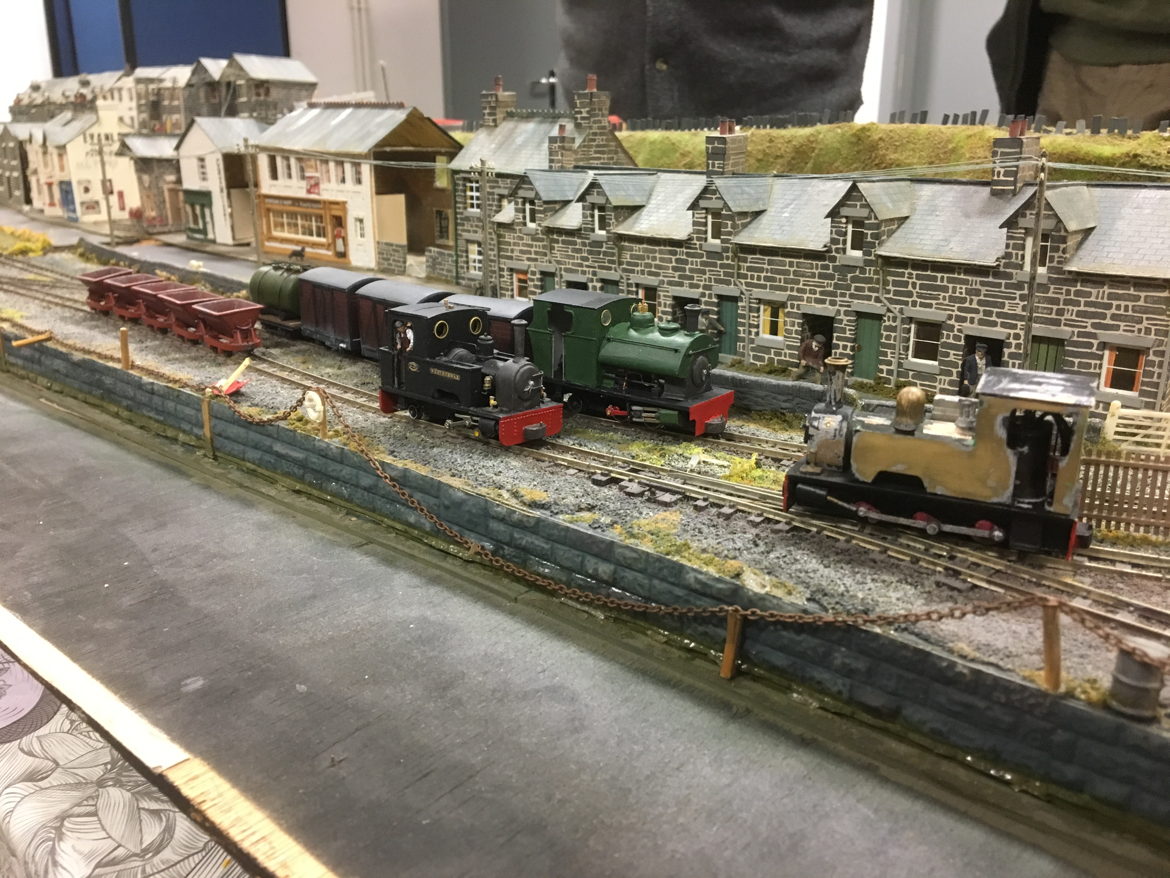 Ben Powell's Peckett and Kerr Stuart locos, Will's 0-6-0 Bagnall and a selection of their stock.