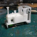Julien's Avonside.jpg - Julien Webb's latest Shapeways purchases of an Avonside 0-4-0T body to fit his Bachmann Percy chassis (from Dave's railway bits). (photo © Julien Webb)